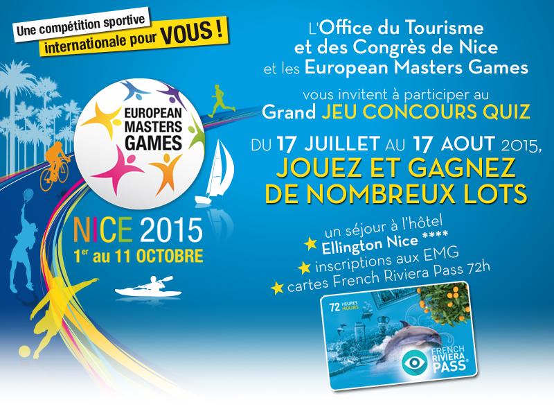 Jeu Concours European Masters Games 2015 - Hôtel Ellington - Mister Riviera