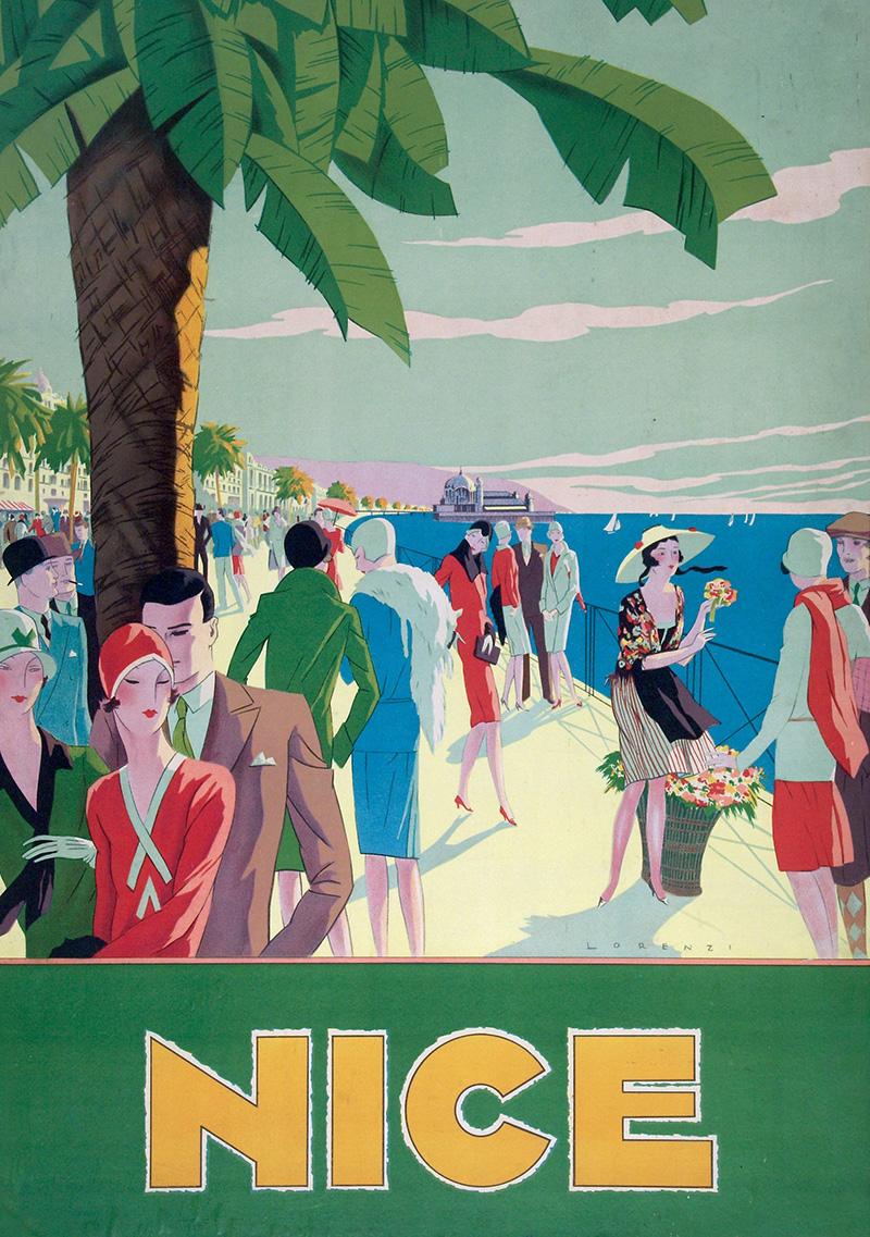 Affiche illustrée par Lorenzi, 1926, imprimerie de l'Eclaireur à Nice